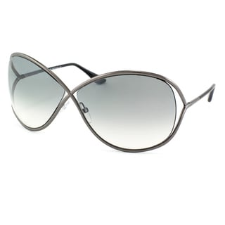 Tom Ford Womens 'TF130 Miranda 08B' Shiny Gunmetal Sunglasses