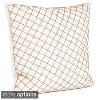Diamond Design Beaded Down Filled Throw Pillow
