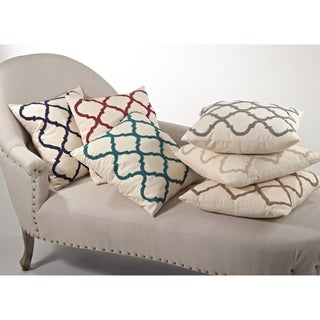 Moroccan Design Beaded Down Filled Throw Pillow