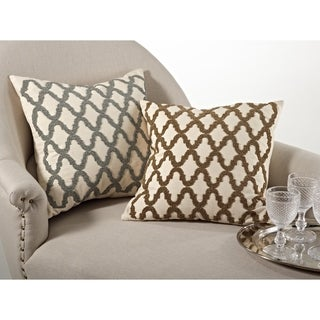Beaded Design Down Filled Throw Pillow