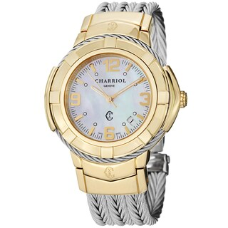 Charriol Women's CE438Y1.650.002 'Celtic' Mother of Pearl Two Tone Steel Watch