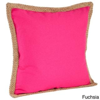 Jute Braided Down Filled Throw Pillow
