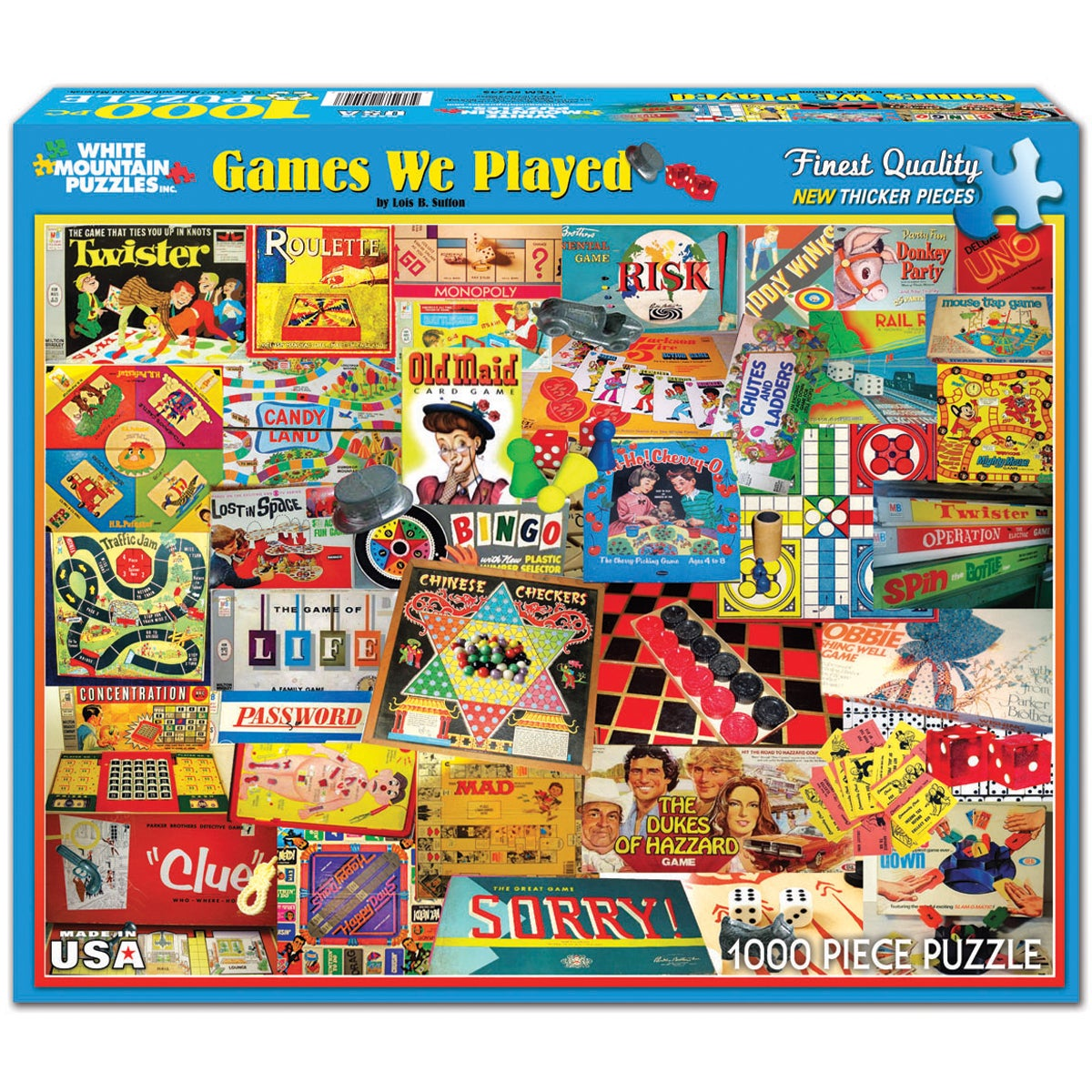 White Mountain Puzzles Games We Played Puzzle 1000 Pieces...