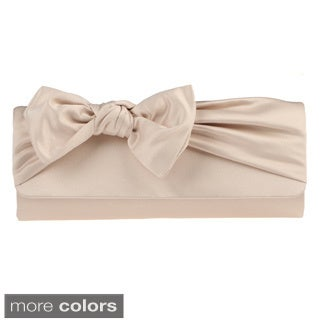 J. Furmani Satin Bow Clutch