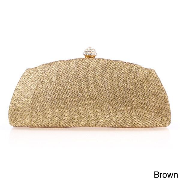 J. Furmani Glitter Fabric Hardcase Clutch