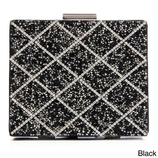 J. Furmani Glitter Beaded Square Hardcase Clutch (2 options available)