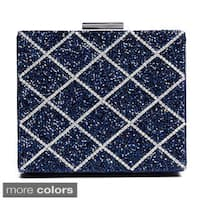 J. Furmani Glitter Beaded Square Hardcase Clutch