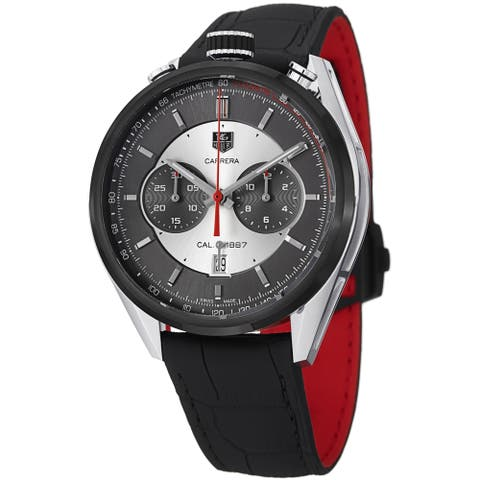 Tag Heuer Men's CAR2C11.FC6327 'Carrera Jack Heuer Limted Edition' Chronograph Automatic Black Leather Watch