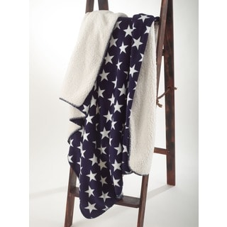 Star Design Sherpa Throw Blanket