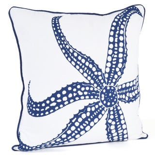 Starfish Design Down Filled Throw Pillow