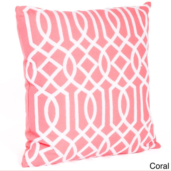Throw Pillow Filling : Embroidered Design Down Filled Throw Pillow - Free Shipping On Orders Over $45 - Overstock.com ...