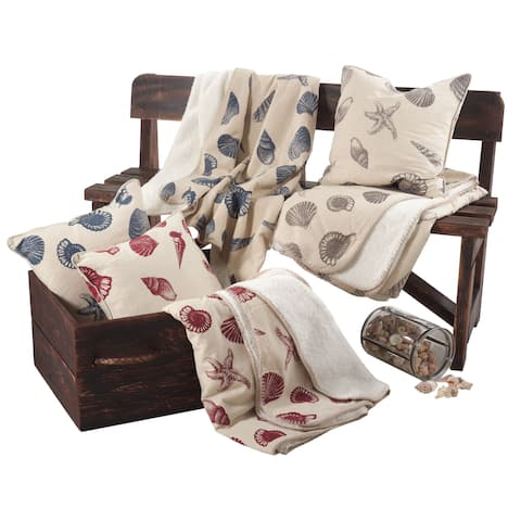Nautical Design Throw with Sherpa