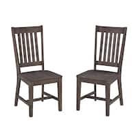 The Gray Barn Quintara Acacia Wood Dining Chair (Set of 2)