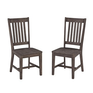 Solid Acacia Wood Dining Chair Set (Set of 2) by Home Styles