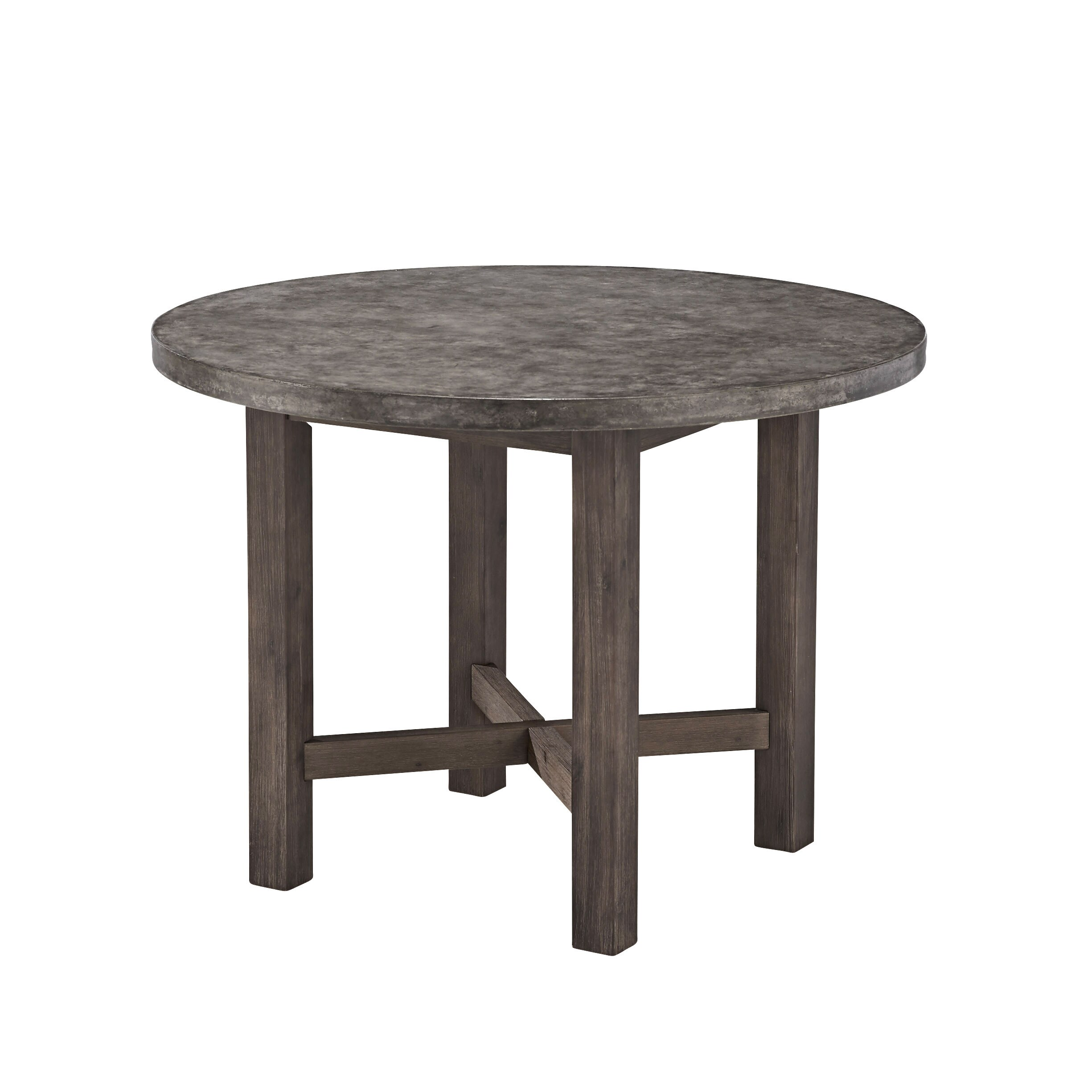 Porch U0026 Den Ballston Nelson Concrete Round Dining Table