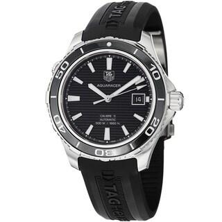 Tag Heuer Men's WAK2110.FT6027 'Aquaracer500' Black Dial Black Rubber Strap Watch https://ak1.ostkcdn.com/images/products/8771594/Tag-Heuer-Mens-WAK2110.FT6027-Aquaracer500-Black-Dial-Black-Rubber-Strap-Watch-P16012347.jpg?_ostk_perf_=percv&impolicy=medium