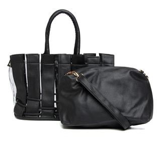J. Furmani Black Shoulder Bag-within-a-Bag