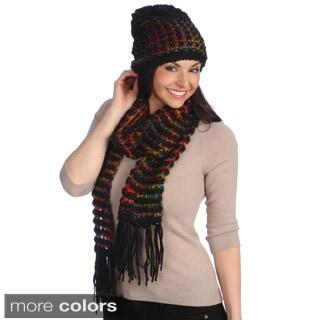 J. Furmani Knit Winter Scarf and Hat Set