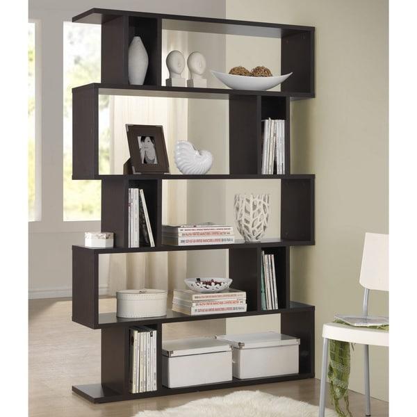 Baxton Studio Samuel Dark Brown/ Espresso Modern Storage Shelf