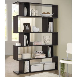 Baxton Studio Samuel Dark Brown/ Espresso Modern Storage Shelf
