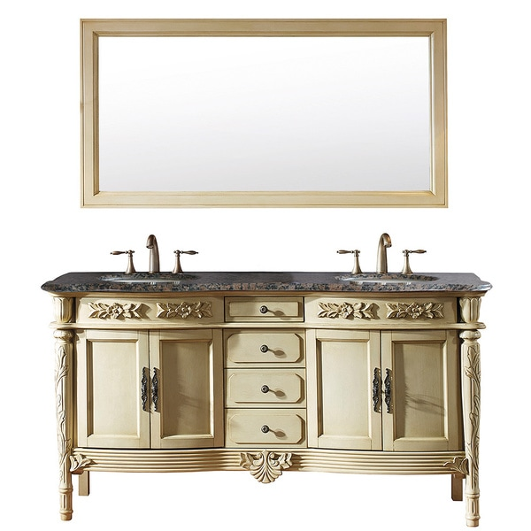 Vintage Bathroom Vanity Set: Shop Virtu USA Alexandria 67-inch Antique Ivory Double