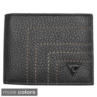 YL Fashion Men's Leather Bi-fold Wallet with Flap