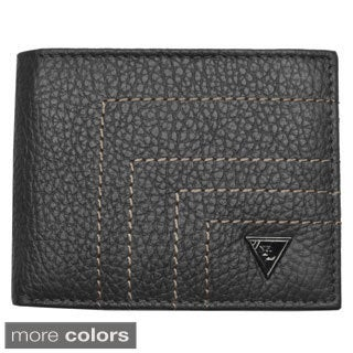 YL Fashion Men's Leather Bi-fold Wallet with Flap