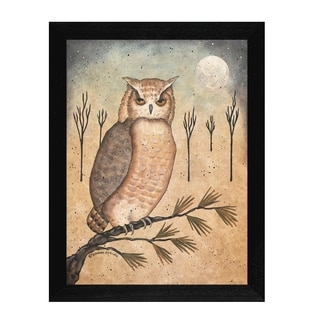 """'Hoot Owl"""" by Donna Atkins Printed Framed Wall Art"""