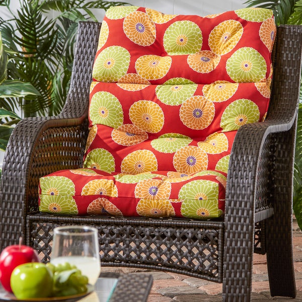 Greendale Home Fashions Outdoor High Back Chair Cushion   22w X 44l