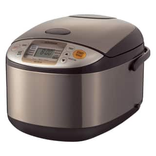 Zojirushi Micom 10-Cup Rice Cooker and Warmer - Stainless Brown|https://ak1.ostkcdn.com/images/products/8771906/P16012592.jpg?impolicy=medium