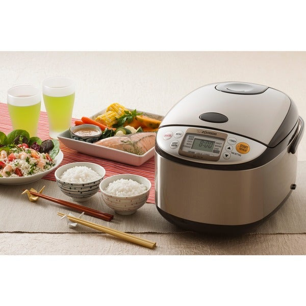 Zojirushi Micom 10 Cup Rice Cooker And Warmer Stainless Brown