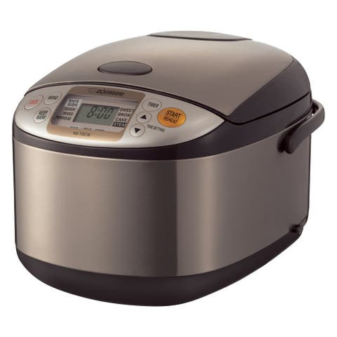 Zojirushi Micom Brown Stainless Steel 10-cup Rice Cooker and Warmer
