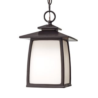 Wright House 1-light Opal-etched Glass Outdoor Lantern