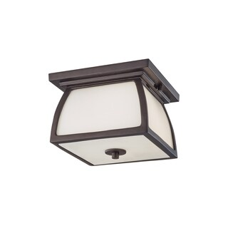 Feiss 1 - Light Outdoor Flushmount, Oil Rubbed Bronze