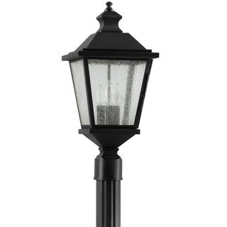 Woodside Hills 3-light Black Outdoor Post Lantern