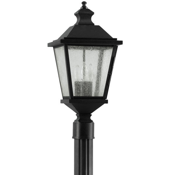 woodside hills 3 light black outdoor post lantern free. Black Bedroom Furniture Sets. Home Design Ideas