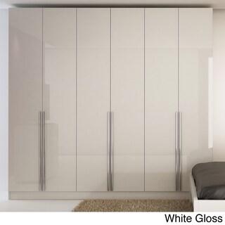 Aluminum and Wood 6-door Wardrobe