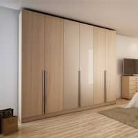 Aluminum and Wood 6-door Wardrobe