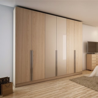 Aluminum And Wood 6 Door Wardrobe
