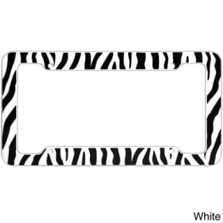 Oxgord Striped Zebra / Tiger Plastic Auto License Plate Frame for Standard US Plates