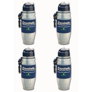 Seychelle Family 4-pack Emergency Water Filter Bottle