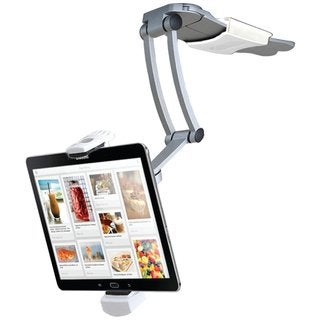 CTA Digital PAD-KMS 2-in-1 Kitchen Mount Stand for iPad Air, iPad mini, Surface, & Other 712 Inch Tablets