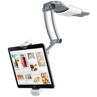CTA Digital PAD-KMS 2-in-1 Kitchen Mount Stand for iPad Air, iPad mini, Surface, & Other 7–12 Inch Tablets