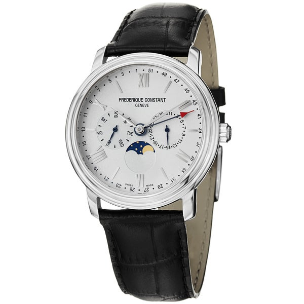 Frederique Constant Men's FC-270SW4P6 'Business Time' White Dial Chrono Watch. Opens flyout.