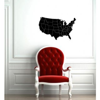 U.S.A Map Vinyl Wall Decal
