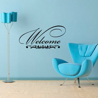 'Welcome' Vinyl Wall Decal