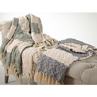 Nubby Design Striped Throw Blanket