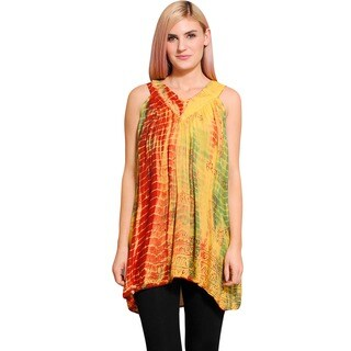 Women's Tie-dyed Rasta Summer Top (Nepal)