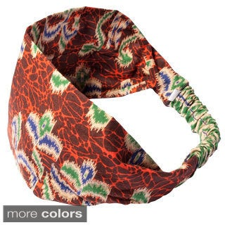 Handmade Women's Printed Maya's Summer Bali Yoga Headband (Indonesia)