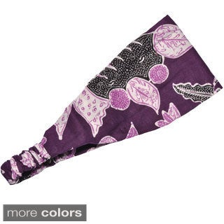 Handmade Women's Printed Sonya's Summer Bali Yoga Headband (Indonesia)